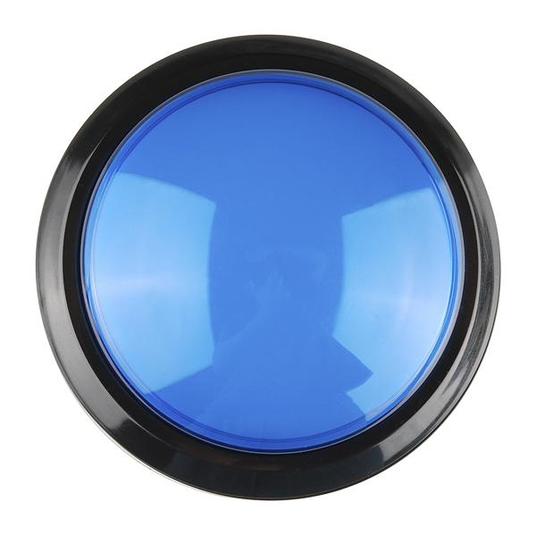Big Dome Push Button Blue