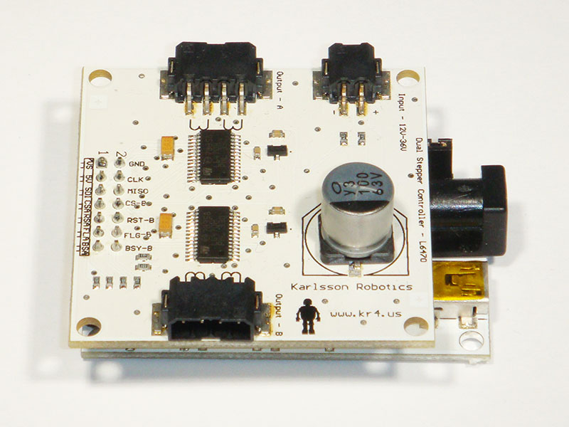 Dual l6470 stepper motor controller for Dual stepper motor driver