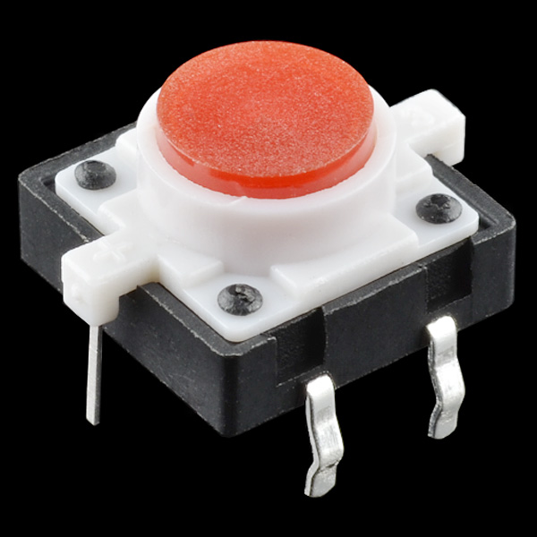 Led tactile button red