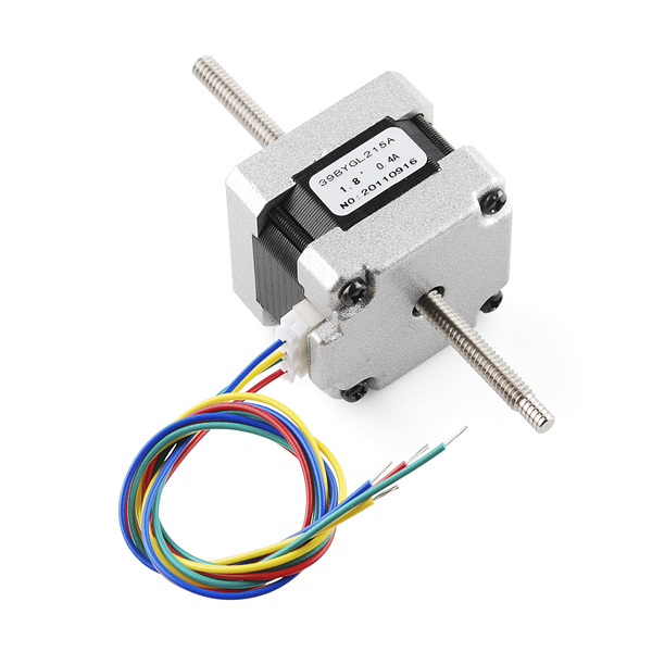 Stepper Motor 29 Oz In 200 Steps Rev Threaded Shaft