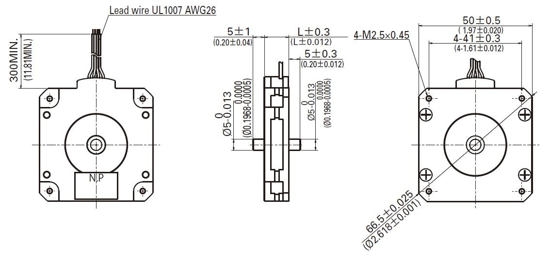 Sanyo Pancake Stepper Motor: Bipolar, 200 Steps/Rev, 50 x 11mm ... on